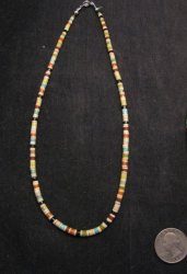 Rudy & Mary Coriz Santo Domingo Multistone Heishi Necklace 1/4 - various length