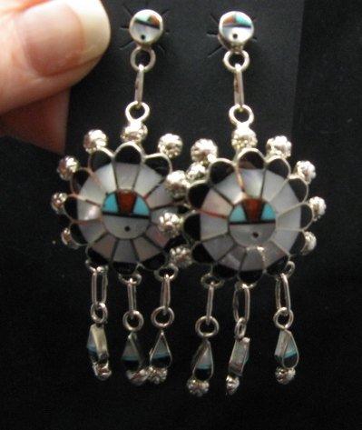 Image 2 of Zuni Abel Soseeah Sunface Necklace Earrings & Bracelet Set