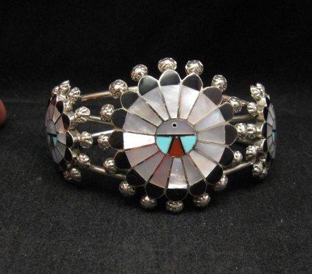 Image 3 of Zuni Abel Soseeah Sunface Necklace Earrings & Bracelet Set