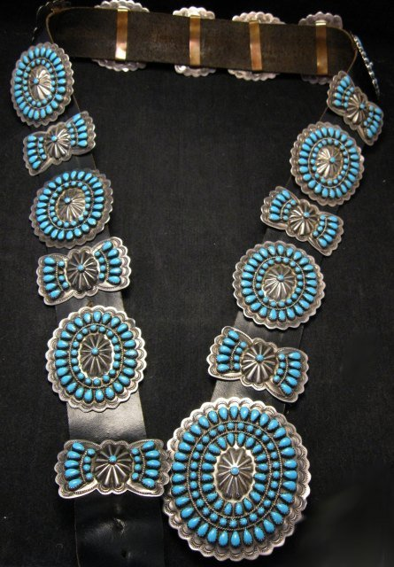 Vintage Pawn Navajo Native American Turquoise Cluster