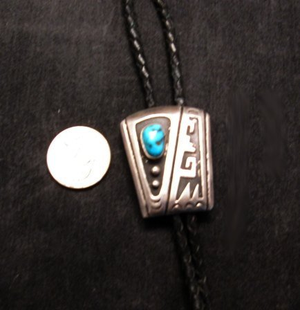Image 1 of Vintage 1970's Sterling Silver Navajo / Hopi Bolo with Turqouise