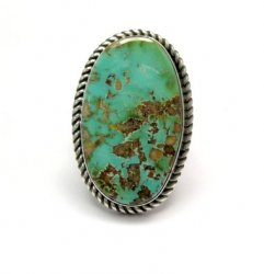Albert Jake ~ Navajo ~ Native American Royston Turquoise Ring Sz7-1/2