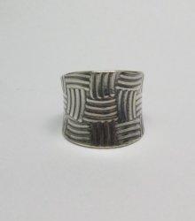 Fancy Navajo Sterling Silver Ring sz9, Byron Joe