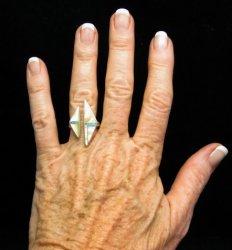 Native American Wrap-around Multigem Inlay ring sz6 to sz8