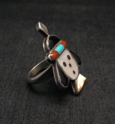 Image 1 of Vintage Native American Zuni Inlaid Ring sz6-1/4
