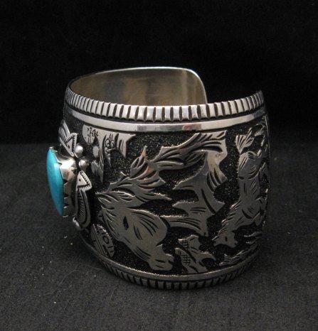 Image 2 of LARGE Richard Singer Navajo Horse Storyteller Sterling Silver Bracelet