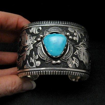 Image 5 of LARGE Richard Singer Navajo Horse Storyteller Sterling Silver Bracelet