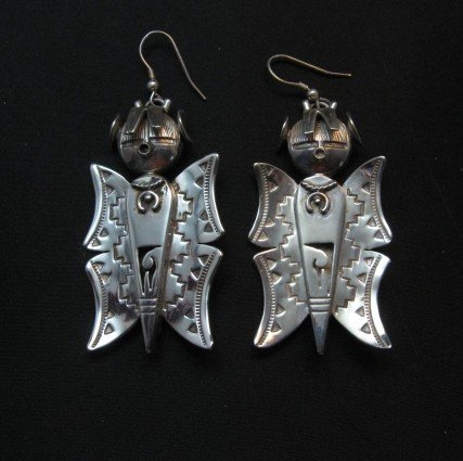 Image 0 of Native American Navajo Butterfly Maiden Earrings, Nelson Morgan