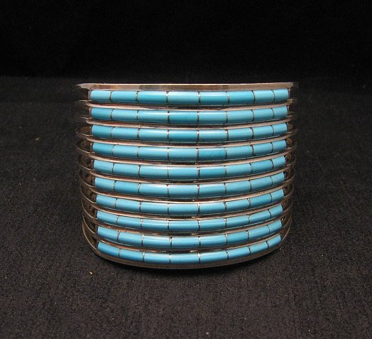 Image 6 of Zuni 10-row Sleeping Beauty Turquoise Bracelet, Anson & Letitia Wallace