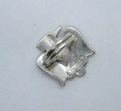 Image 4 of Zuni Multi Inlay Thunderbird Ring, Bobby Shack, sz8-1/2