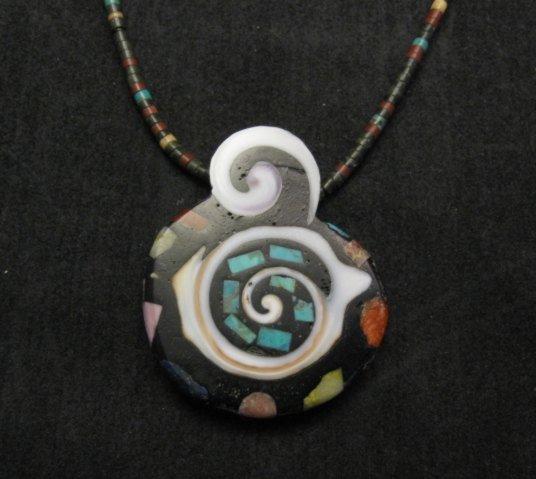 Image 0 of Abstract Mary Tafoya Santo Domingo Multi-Stone Inlay Necklace