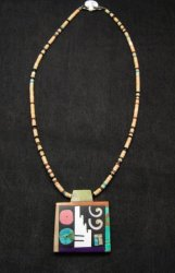 Mary Tafoya Santo Domingo Indian Multi-Stone Inlay Necklace