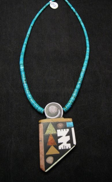 Image 0 of Special Santo Domingo Pueblo Indian Mosaic Inlay Necklace, MARY TAFOYA