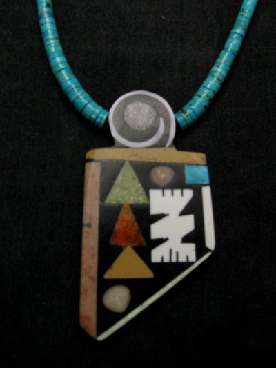 Image 1 of Special Santo Domingo Pueblo Indian Mosaic Inlay Necklace, MARY TAFOYA