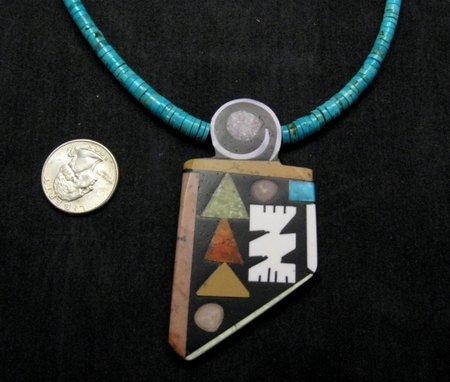 Image 2 of Special Santo Domingo Pueblo Indian Mosaic Inlay Necklace, MARY TAFOYA
