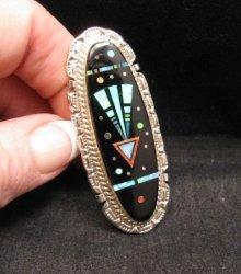 Large Navajo Multi Stone Father Sky Shooting Arrow Ring sz9