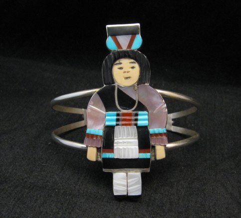 Image 0 of Madeline Beyuka Zuni Native American Multi Inlay Olla Maiden Bracelet