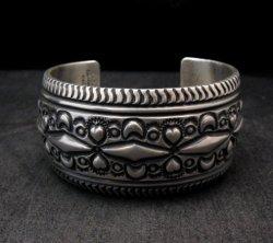 Darryl Becenti Navajo Native American Sterling Silver Cuff Bracelet