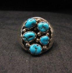 Navajo Turquoise Sterling Silver Mens Ring sz13-1/2, Marlene Martinez