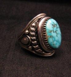 Native American Navajo Derrick Gordon Natural Turquoise Ring Sz10-1/2