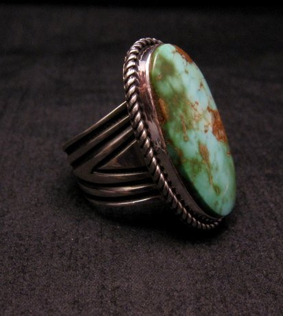 Image 1 of Albert Jake ~ Navajo ~ Native American Royston Turquoise Ring Sz9-11 adjustable