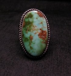 Albert Jake ~ Navajo ~ Native American Royston Turquoise Ring Sz10