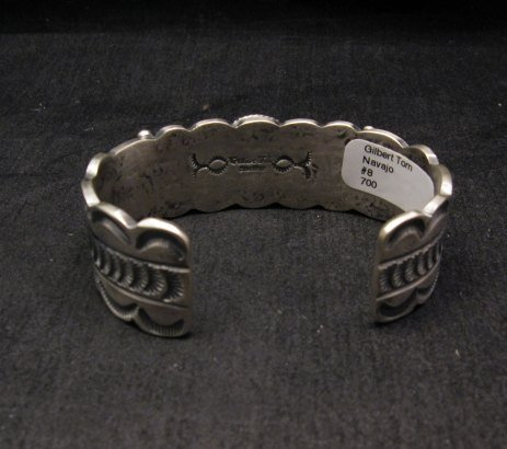 Image 4 of Navajo Native American Number 8 Turquoise Bracelet, Gilbert Tom