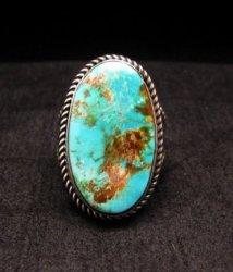Albert Jake ~ Navajo ~ Native American Pilot Mtn Turquoise Ring Sz9