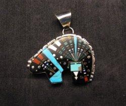 Native American Navajo Multistone Cosmic Bear Pendant, Ray Jack