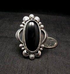 Navajo Native American Black Onyx Ring Sz12, Gilbert Tom