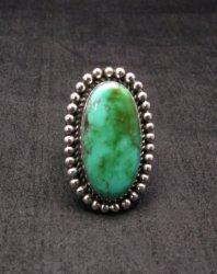 Navajo Royston Turquoise Silver Ring, Navajo Happy Piasso sz6-1/2