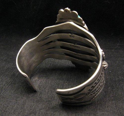Image 6 of Navajo American Indian Royston Turquoise Silver Bracelet, Aaron Toadlena
