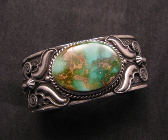 Image 1 of Andy Cadman Navajo Native American Royston Turquoise Silver Bracelet