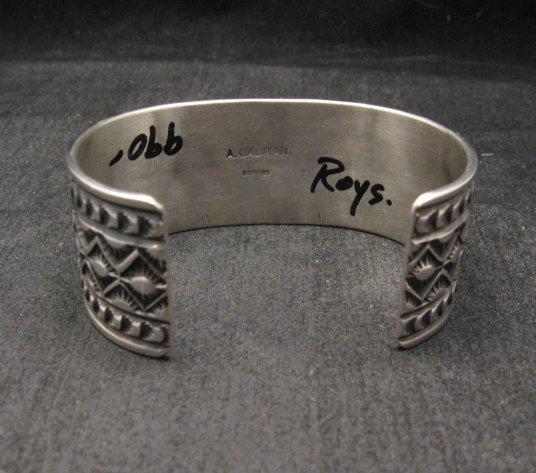 Image 5 of Andy Cadman Navajo Native American Royston Turquoise Silver Bracelet