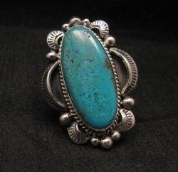 Navajo Native American Indian Turquoise Ring Sz10, Gilbert Tom