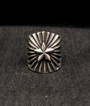 Image 0 of Old Pawn Style Navajo Sterling Silver Ring Sz6-1/2, Derrick Gordon
