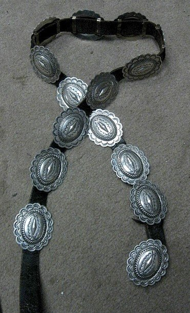 Image 4 of Dead Pawn Sterling Silver Concho Belt