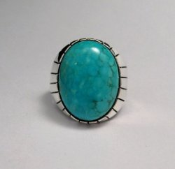 Ray Jack Navajo Turquoise Sterling Silver Ring Sz10-1/2
