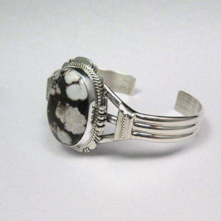 Image 3 of Navajo Native American Wild Horse Sterling Silver Bracelet, John Nelson