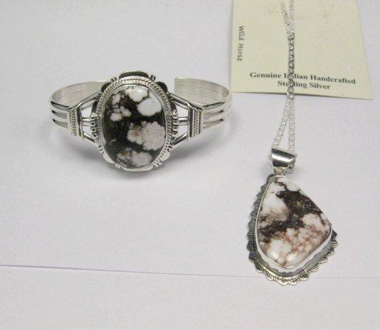 Image 4 of Navajo Native American Wild Horse Sterling Silver Bracelet, John Nelson