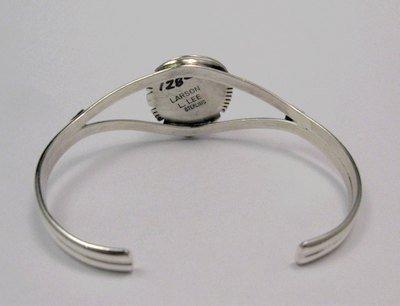 Image 3 of Larson Lee ~ Navajo Native American ~ Charoite Sterling Silver Bracelet