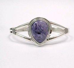 Larson Lee ~ Navajo Native American ~ Charoite Sterling Silver Bracelet
