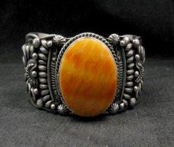 Darryl Becenti Navajo Spiny Oyster Sterling Silver Cuff Bracelet