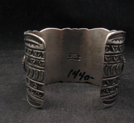 Image 8 of Darryl Becenti Navajo Native American Spiny Oyster Sterling Silver Bracelet