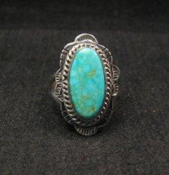Navajo Native American Turquoise Sterling Silver Ring sz6-1/2, Burt Francisco