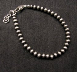 Native American 5mm Bead Navajo Pearls Sterling Silver Bracelet