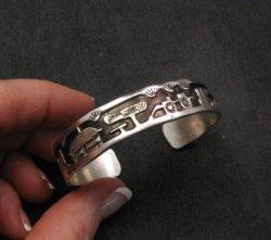 Andrew Henry Navajo Canyon de Chelly Storyteller Silver Bracelet