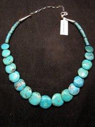 Santo Domingo Kewa Turquoise Disk Necklace, Joanne Garcia