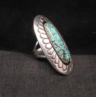 Image 3 of Long Navajo Indian Turquoise Shadowbox Ring sz7-3/4, Gene & Martha Jackson
