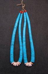 Vintage Native American Turquoise Jaclas (pair)